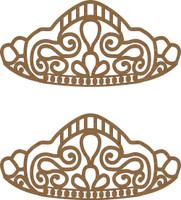 Tiara (2 per package) - Chipboard Embellishment