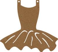 Leotard with Tutu - Chipboard Embellishment