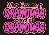 What Happens at Grandma's Stay at Grandma's Die Cut