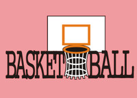 Basketball Backboard with Text Die Cut