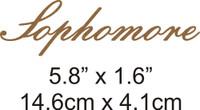 Sophomore - Beautiful Script Chipboard Word
