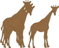 Giraffe 4 Pack - Chipboard Shapes