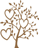 Heart Tree - Chipboard Embellishment