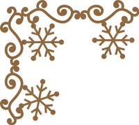 Swirl Border with Snowflakes 2 pack - Chipboard Embellishment