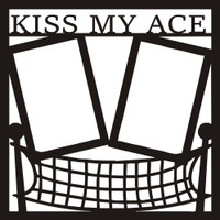 Kiss my Ace - Volleyball - 12x12 Overlay