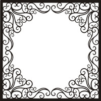 Fancy Frame - 12x12 Overlay