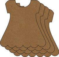 Dress 4 Pack - Chipboard Embellishments