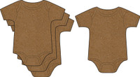 Onesie 4 Pack - Chipboard Embellishments