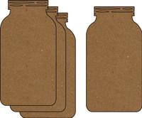 Mason Jar 4 Pack - Chipboard Embellishments