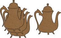 Victorian Teapot 4 Pack - Chipboard Embellishments
