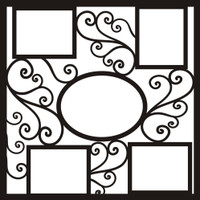 Elegant Flourish Frames - 12x12 Overlay