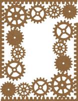 Gear Corners 2 Pack Chipboard Embellishment