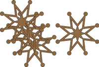 Snowflakes #4 - 4 Pack Chipboard Embellishment