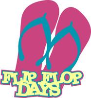 Flip Flop Days - Laser Die Cut