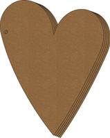 Shabby chic Heart Album - Chipboard Album