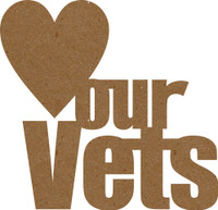 Love Our Vets Chipboard Quote