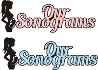 Our Sonograms (Available in Pink or Baby Blue - Title Strip