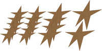 Funky Stars (16 Pack) - Chipboard Embellishment