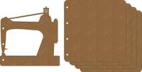 Sewing Machine Album - Chipboard Album