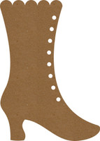 Victorian Boot Large - Chipboard Embellishment