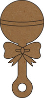 Baby Rattle  - Chipboard Embellishment
