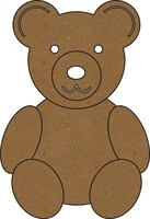 Teddy Bear Large - Chipboard Embellishment