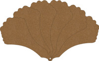 Victorian Fan (6 Pack) - Chipboard Embellishment
