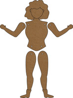 Build a Doll (6 Pack) - Chipboard Embellishment