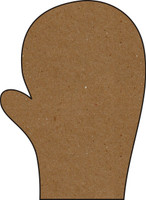 Mitten Large - Chipboard Embellishment