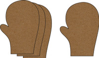 Mitten Small 4 Pack - Chipboard Embellishment