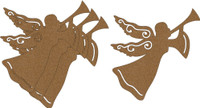 Angel with Trumpet Small 4 Pack - Chipboard Embllishment