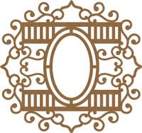 Frame Elegant Swirls with Ovals - Chipboard Embellishment