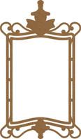 Frame Rectangular with Victorian Swirls