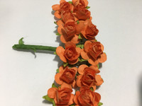 Orange Mini Paper Flower 8050E