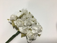White Mini Paper Flower 8050E