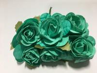 """AQUA Blue 1"""" Paper Flower  8009E"""