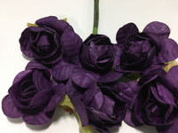 "Purple 1"" Paper Flower  8009E"
