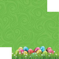 Easter Egg Hunt - Reminisce Double Sided 12 x 12 Paper