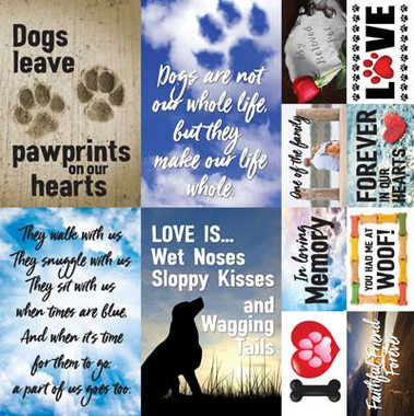 paw prints on my heart 12 x 12 poster sticker want2scrap