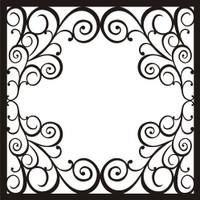 Frame Swirl Elegance - 12x12 Overlay