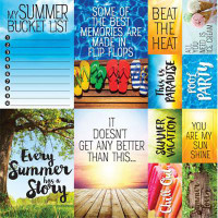 Summertime 12 x 12 Poster Sticker