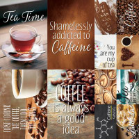 Coffee & Tea 12 x 12 Poster Sticker