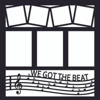 We Got The Beat - 12x12 Overlay