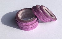 Washi Tape 1/4 Inch 10 Pack - Pink Glitter