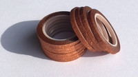 Washi Tape 1/4 Inch 10 Pack - Toffee Glitter
