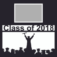 Class of 2018 with Graduate - 12 x 12 Overlay