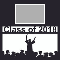Class of 2018 with Female Graduate - 12 x 12 Overlay