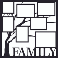 Family Tree Overlay - 12 x 12 Overlay