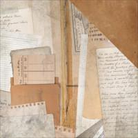 LIBRARY EPHEMERA -KAISERCRAFT DOUBLE SIDED PAPER