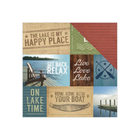 LAKE TIME TAGS -PAPERHOUSE  DOUBLE SIDED PAPER